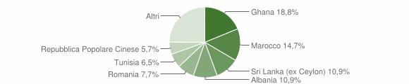 Grafico cittadinanza stranieri - Castelnuovo Rangone 2014