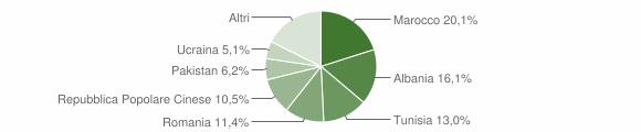 Grafico cittadinanza stranieri - Pieve di Cento 2019
