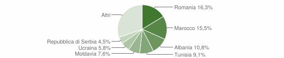 Grafico cittadinanza stranieri - Sasso Marconi 2013