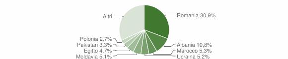Grafico cittadinanza stranieri - Granarolo dell'Emilia 2018