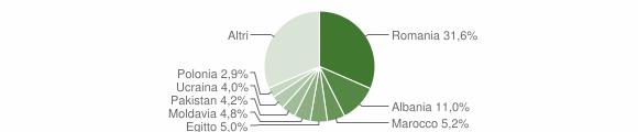 Grafico cittadinanza stranieri - Granarolo dell'Emilia 2019