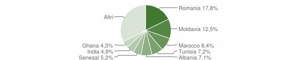 Grafico cittadinanza stranieri - Sorbolo Mezzani 2019