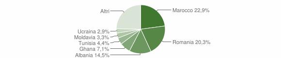 Grafico cittadinanza stranieri - Valsamoggia 2012