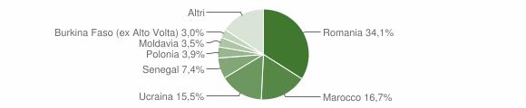 Grafico cittadinanza stranieri - Bagno di Romagna 2014