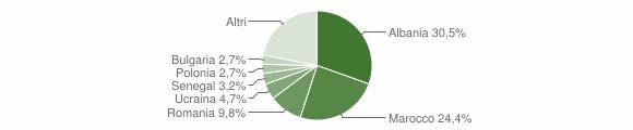 Grafico cittadinanza stranieri - Brisighella 2009