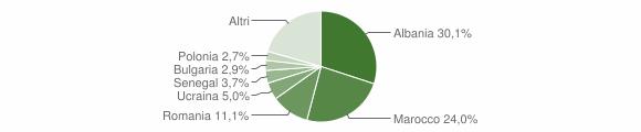 Grafico cittadinanza stranieri - Brisighella 2010
