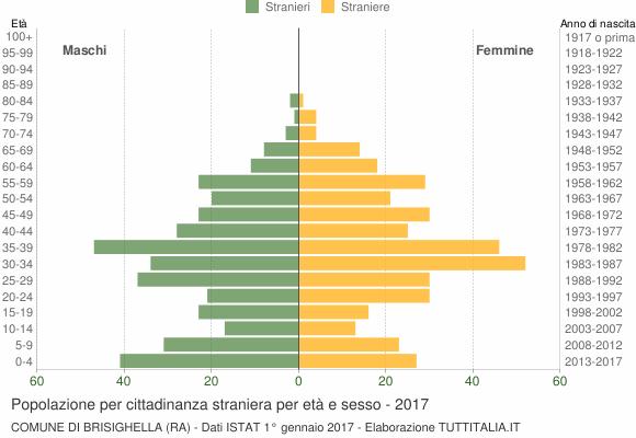 Grafico cittadini stranieri - Brisighella 2017