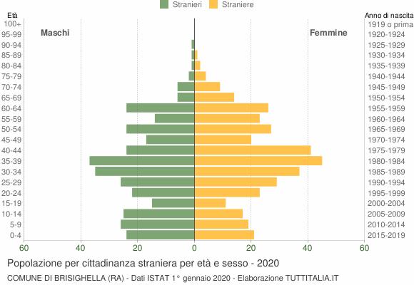 Grafico cittadini stranieri - Brisighella 2020