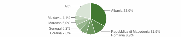 Grafico cittadinanza stranieri - Morciano di Romagna 2013