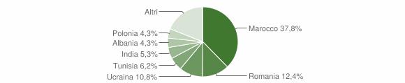 Grafico cittadinanza stranieri - Canossa 2018