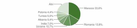 Grafico cittadinanza stranieri - Canossa 2019