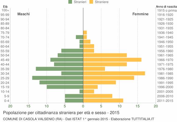 Grafico cittadini stranieri - Casola Valsenio 2015