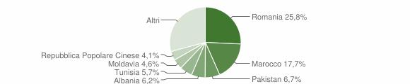 Grafico cittadinanza stranieri - Castello d'Argile 2019