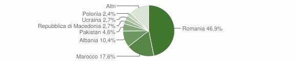 Grafico cittadinanza stranieri - Castiglione dei Pepoli 2012