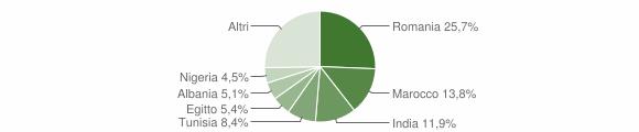 Grafico cittadinanza stranieri - Monticelli d'Ongina 2018