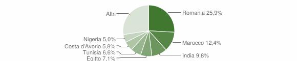 Grafico cittadinanza stranieri - Monticelli d'Ongina 2019