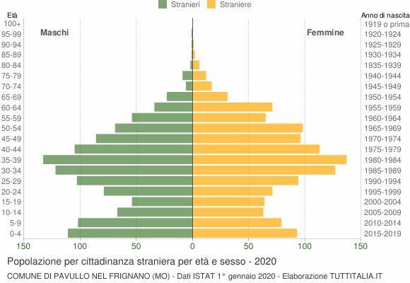 Grafico cittadini stranieri - Pavullo nel Frignano 2020