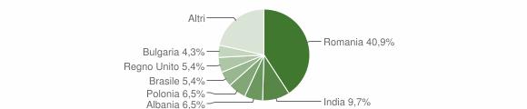 Grafico cittadinanza stranieri - Camugnano 2019