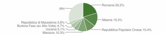 Grafico cittadinanza stranieri - Forlì 2013