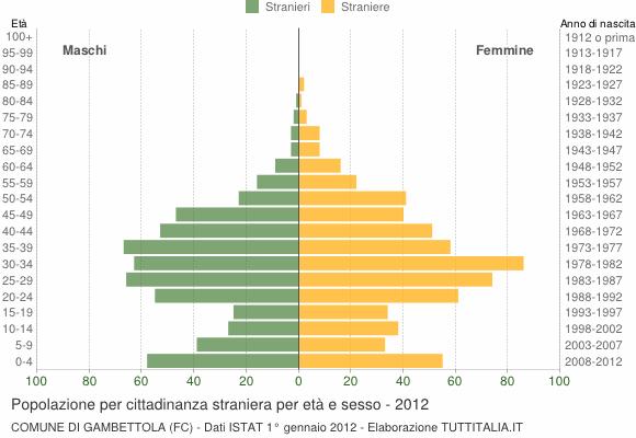 Grafico cittadini stranieri - Gambettola 2012