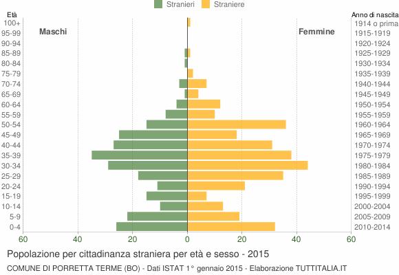 Grafico cittadini stranieri - Porretta Terme 2015