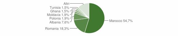Grafico cittadinanza stranieri - Zocca 2011