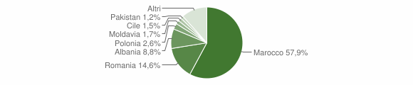 Grafico cittadinanza stranieri - Zocca 2012