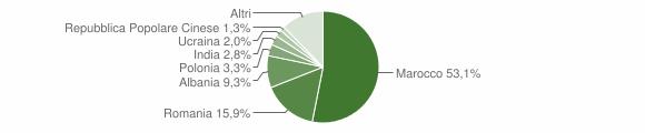 Grafico cittadinanza stranieri - Zocca 2018