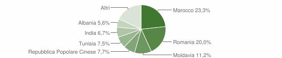 Grafico cittadinanza stranieri - Medolla 2018