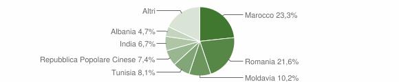Grafico cittadinanza stranieri - Medolla 2019