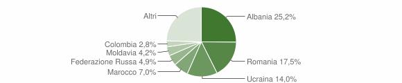 Grafico cittadinanza stranieri - Montefiore Conca 2019