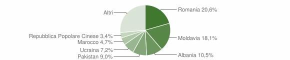 Grafico cittadinanza stranieri - Borgo Val di Taro 2019