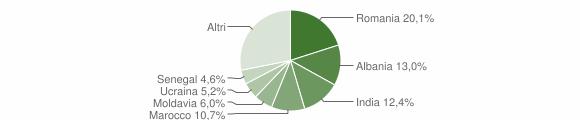 Grafico cittadinanza stranieri - Sissa Trecasali 2015