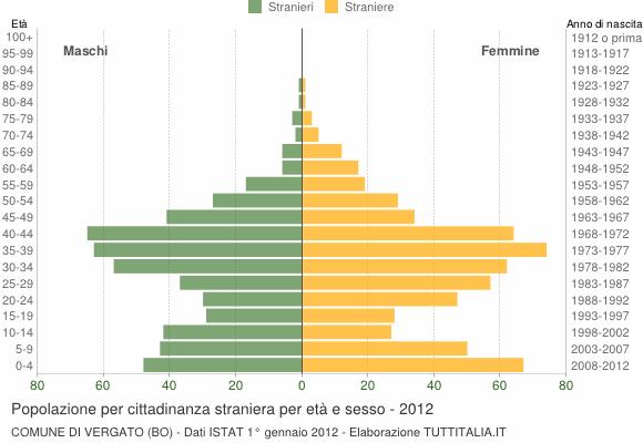Grafico cittadini stranieri - Vergato 2012