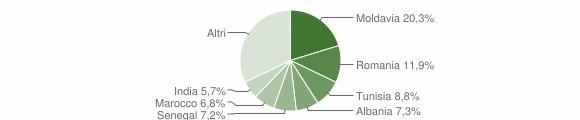 Grafico cittadinanza stranieri - Sorbolo 2015