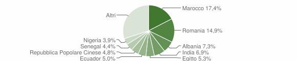 Grafico cittadinanza stranieri - Caorso 2019