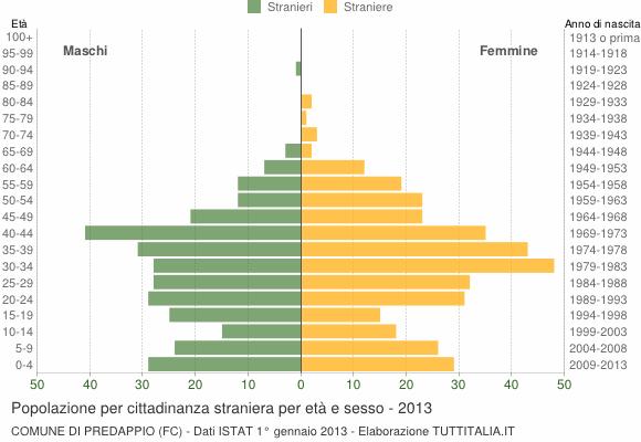 Grafico cittadini stranieri - Predappio 2013