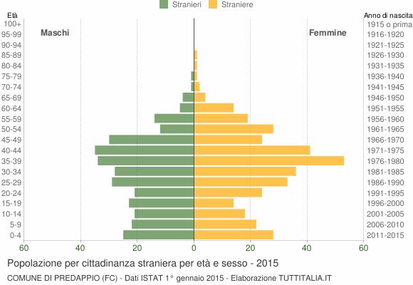 Grafico cittadini stranieri - Predappio 2015