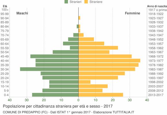 Grafico cittadini stranieri - Predappio 2017
