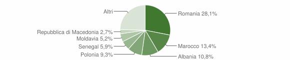 Grafico cittadinanza stranieri - Russi 2010