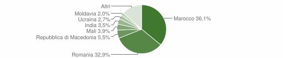 Grafico cittadinanza stranieri - Castel di Casio 2019