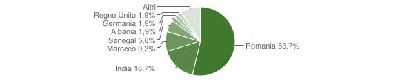 Grafico cittadinanza stranieri - Tredozio 2010