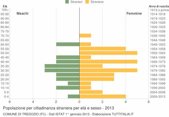 Grafico cittadini stranieri - Tredozio 2013