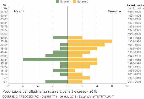 Grafico cittadini stranieri - Tredozio 2015