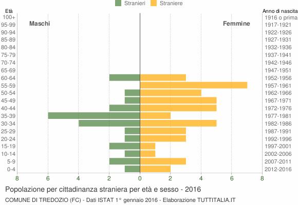 Grafico cittadini stranieri - Tredozio 2016