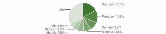Grafico cittadinanza stranieri - Brescello 2019