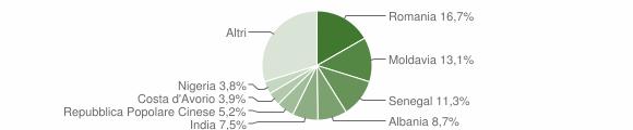 Grafico cittadinanza stranieri - Torrile 2019