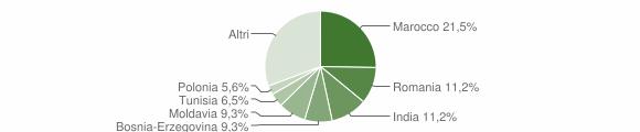 Grafico cittadinanza stranieri - Frassinoro 2019