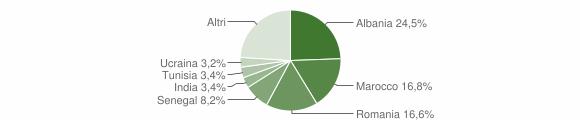 Grafico cittadinanza stranieri - San Leo 2010