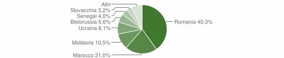 Grafico cittadinanza stranieri - Verghereto 2013